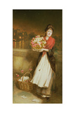 A London Flower Girl, 1877 Giclee Print by Augustus Edward Mulready