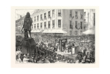 Boston Celebration: the Procession Passing Winthrop Statue. 1880, USA, America Giclee Print by Charles Graham