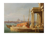 The Quay of the Dogano, Venice Giclee Print by  Canaletto
