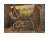 The Old Gardener, 1863 Giclee Print by Briton Riviere