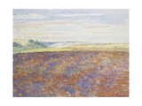 Study of a Landscape with a Ploughed Field, Eragny-Sur-Epte, C. 1886 - 1890 Giclee Print by Camille Pissarro