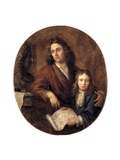 The Sculptor Willem Kerrickx and His Son Willem Ignatius Giclee Print by Balthasar Beschey