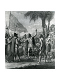 An Indian Cacique of the Island of Cuba Addressing Columbus (1451-1500) Concerning a Future State Giclee Print by Benjamin West