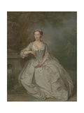 A Lady with a Book, C.1730-40 Giclee Print by Bartholomew Dandridge