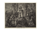 The Hussite Sermon Giclee Print by Carl Friedrich Lessing