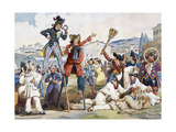 Carnival in Rome, by Bartolomeo Pinelli (1781-1835), Italy, 19th Century Giclee Print by Bartolomeo Pinelli