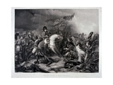 Napoleon at Waterloo, by Jean Pierre Marie Jazet (1788-1871), C.1870 (Mezzotint) Giclee Print by Charles Auguste Steuben