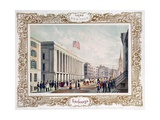 Exchange, New York City, Published 1850 Giclee Print by C. Autenrieth
