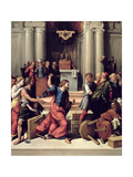 Christ Driving the Money-Changers from the Temple Giclee Print by Benvenuto Tisi Da Garofalo