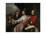 Portrait Group of the Drummond Family Giclee Print by Benjamin West