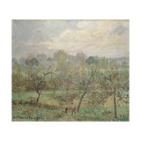 Autumn, Morning Mist, Éragny-Sur-Epte, 1902 Giclee Print by Camille Pissarro