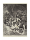 Lieutenant Nelson Volunteering to Board a Prize in a Violent Gale, 20 November 1777 Giclee Print by Benjamin West