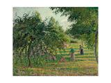 Apple Trees and Hay Makers at Eragny; Pommiers Et Faneuses, Eragny, 1895 Reproduction procédé giclée par Camille Pissarro