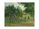 Apple Trees and Hay Makers at Eragny; Pommiers Et Faneuses, Eragny, 1895 Giclee Print by Camille Pissarro