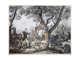 Hunters Giclee Print by Carle Vernet