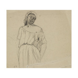 Study of a Negress Reproduction procédé giclée par Camille Pissarro