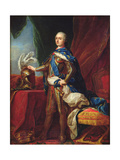 Portrait of Louis XV in Armour Giclee Print by Carle van Loo