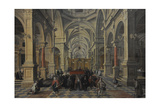 Interior View of a Church, 1624, by Bartholomeus Van Bassen (1590-1652) Giclee Print by Bartolomeus Van Bassen