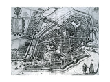 Map of Hamburg, from 'Cities of the World' Giclee Print by Braun Hogenberg