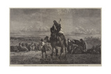 Preparing for an Encampment at Palmyra Giclee Print by Carl Haag
