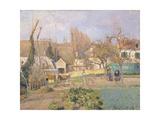 Kitchen Garden at the The L'Hermitage, Pontoise, 1874 Reproduction procédé giclée par Camille Pissarro