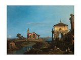 An Island in the Lagoon with a Gateway and a Church, 1743-44 Giclee Print by  Canaletto