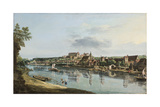 Pirna on the Elba, C.1756 Giclee Print by Bernardo Bellotto