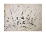 Excursion to Mont Avila, Venezuela Reproduction procédé giclée par Camille Pissarro