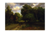 The Crossroads of the Eagle's Nest, Fontainebleau Forest, 1843-44 Giclee Print by Charles Francois Daubigny