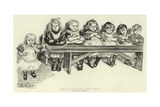 Free Education, the Babies' Bench Giclee Print by Charles Paul Renouard