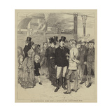 The Metropolitan Horse Show, a Sketch at the Agricultural Hall Giclee Print by Charles Green
