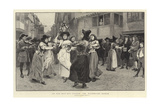 An Old May-Day Custom, the Milkmaid's Dance Giclee Print by Charles Green