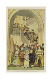 A Christmas Costume Party, Supper Time Giclee Print by Charles Green