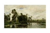 The Edge of the Pond, 1873 Giclee Print by Charles Francois Daubigny