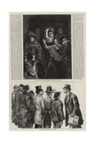 Sketches at the London Police-Courts Giclee Print by Charles Paul Renouard