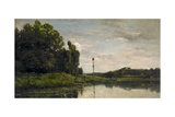 Banks of the Oise, 1863 Giclee Print by Charles Francois Daubigny