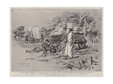 The Rising in Matabeleland, Halting for a Meal on the Way to Buluwayo Giclee Print by Charles Edwin Fripp