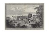 Dublin Castle Giclee Print by Charles Auguste Loye