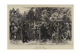 Here They Come!, the Derby, 1871, on the Course Giclee Print by Charles Green