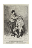 The Fisherman-Barber Shaving at Stock Giclee Print by Charles Green
