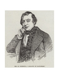 Mr B Webster Giclee Print by Charles Baugniet
