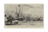 The Arrival of the Crown Prince of Prussia on the Alberta at Cowes Giclee Print by Charles Edward Dixon