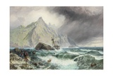 Wreck of a Frigate on the Southern Coast of Spain, 1863 Giclee Print by Charles Napier Hemy