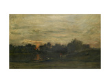 Landscape: Sunset Giclee Print by Charles Francois Daubigny