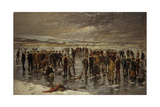 Curling at Carsebreck, 1899 Giclee Print by Charles Martin Hardie