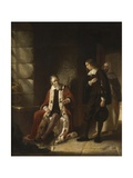 The Interview of Milton with Galileo Giclee Print by Charles Lucy