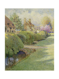 The Box Hedge, Warborough, Oxon Giclee Print by Charles Edwin Flower