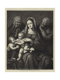 The Holy Family, by Leonardo Da Vinci Giclee Print by Charles Maurand