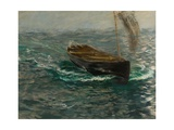 Study of a Sailing Dinghy Giclee Print by Charles Napier Hemy