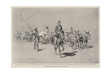 A Convoy of Provisions for Buluwayo Starting under Escort from Mafeking Giclee Print by Charles Edwin Fripp